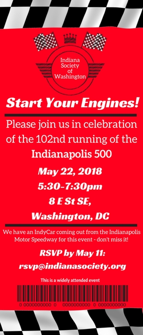 Annual Indy 500 Party Invitation